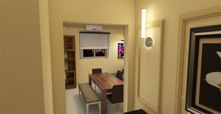 Kirollos Gardenia Heights Small Apartment Interior Design Render