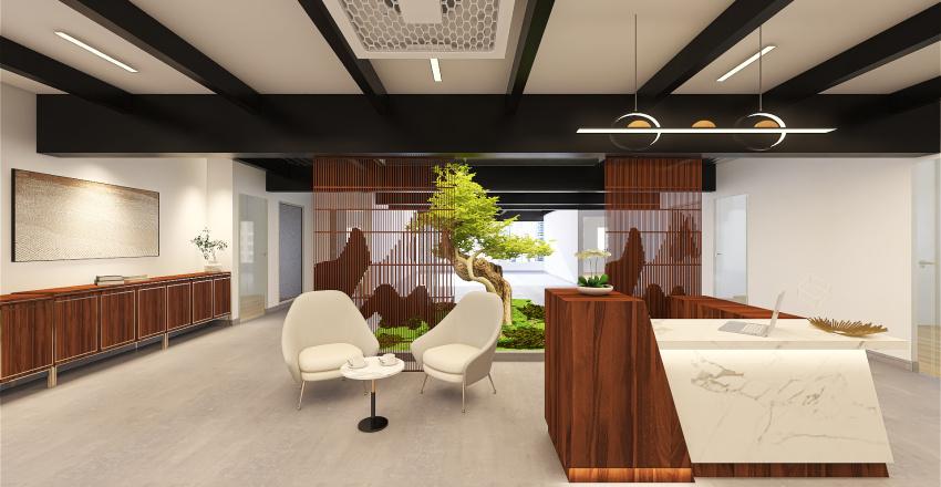 organic courtyard 1 Interior Design Render