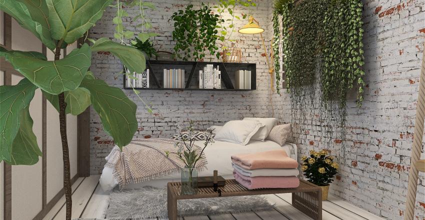 Rose's Romantic Cottagecore Home Interior Design Render