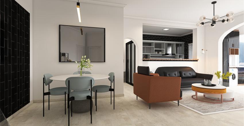 Modern Urban Apartment Interior Design Render