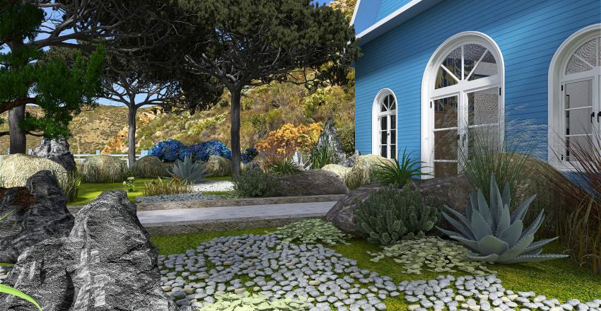 maison bleue Interior Design Render