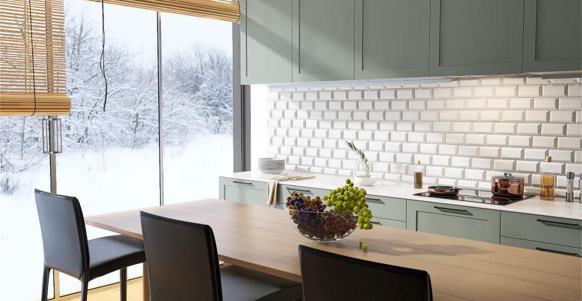 Honey Comb Flat Interior Design Render