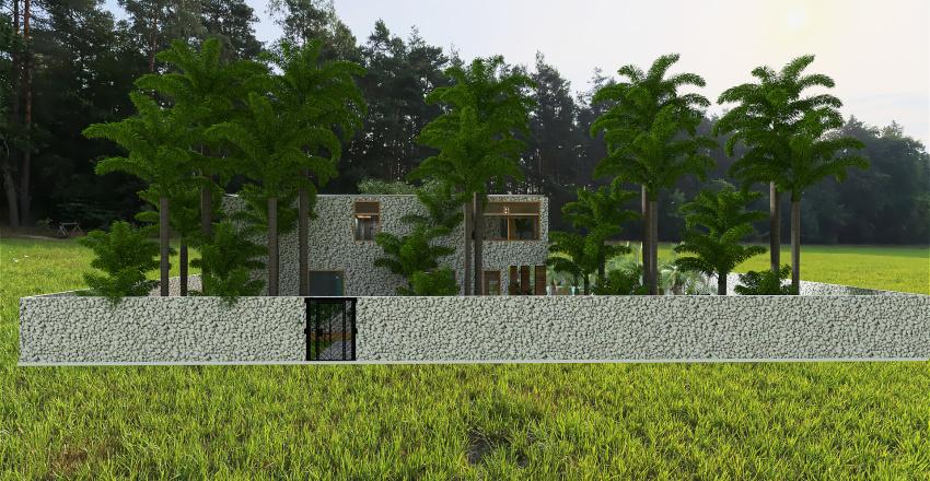 1000 m2 Interior Design Render