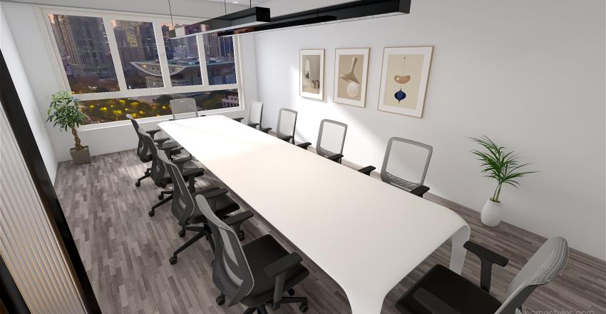 Startup headquarters Interior Design Render