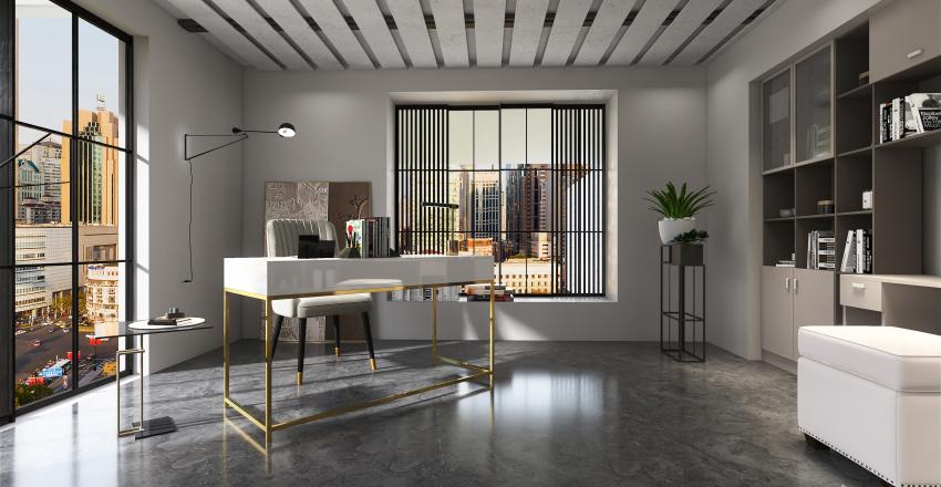 high rise living Interior Design Render
