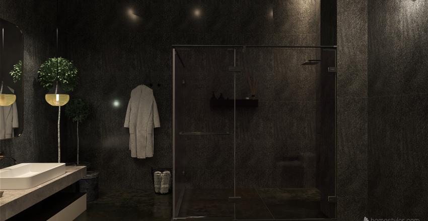 MODER DARK HOME Interior Design Render