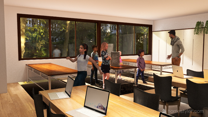 new makerspace Interior Design Render