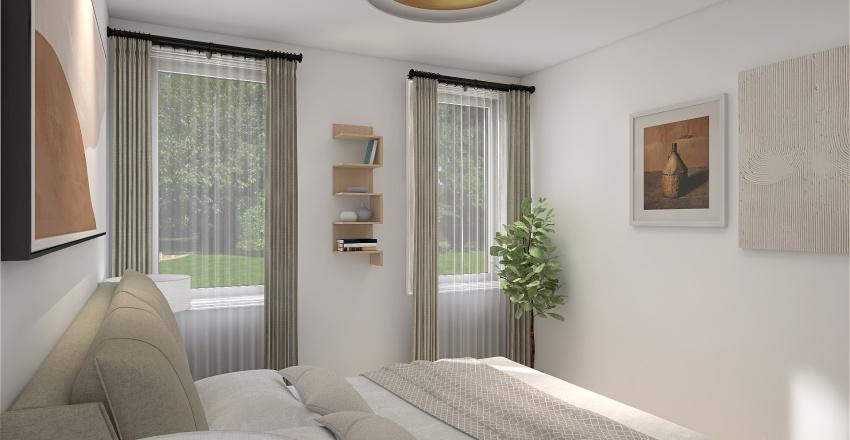 One floor family home Interior Design Render