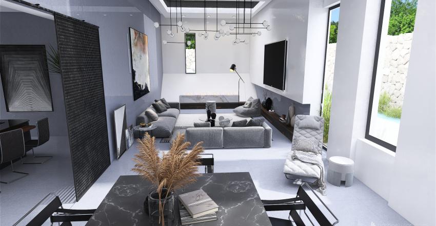 Villa moderna Interior Design Render