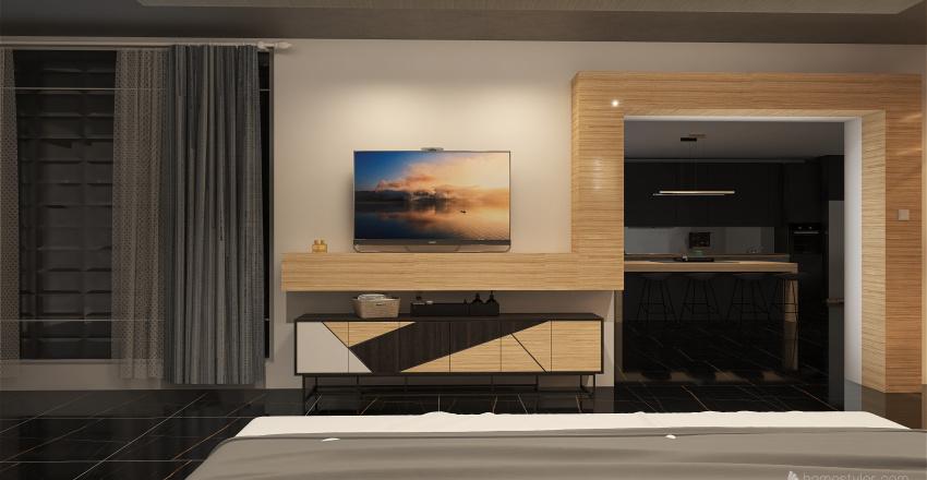NY Modern Penthouse Interior Design Render