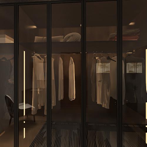 Two Bed, One Bath Interior Design Render