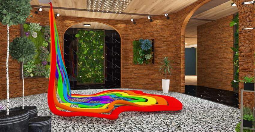 Colour and Atmosphere Exhibition Interior Design Render