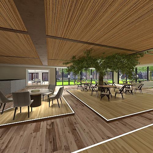CAFE CHIC Interior Design Render