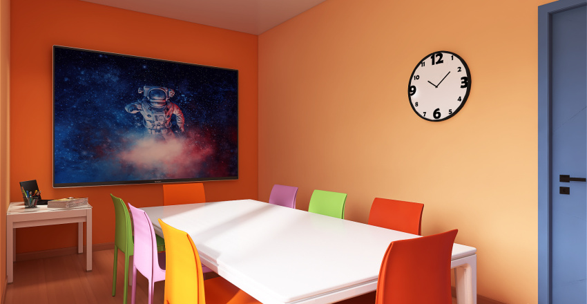 Modern language school Interior Design Render