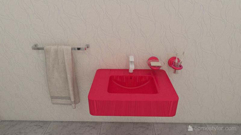 Little girl's house Interior Design Render