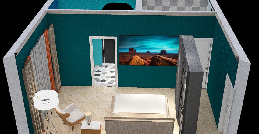 1F ROOM Interior Design Render