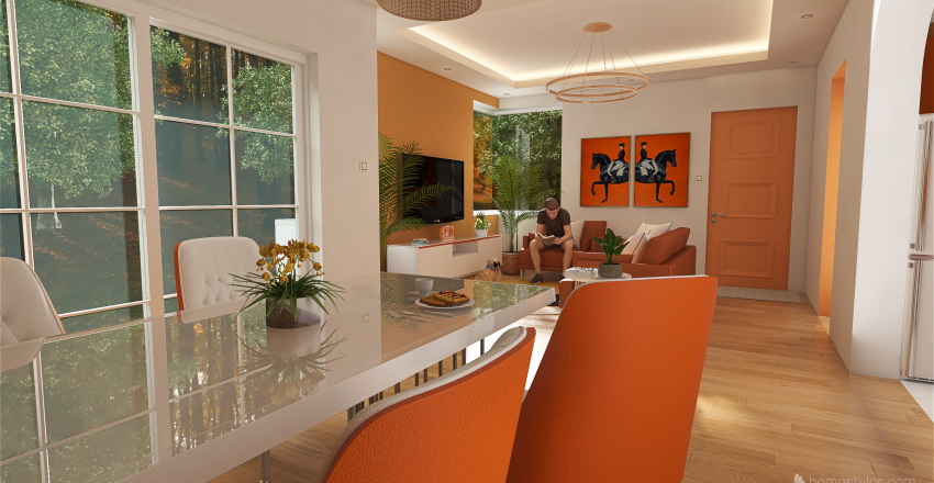 Single Bedroom Bungalow Interior Design Interior Design Render