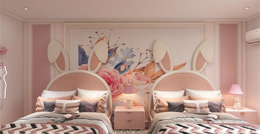 BED ROOM FOR GIRL Interior Design Render