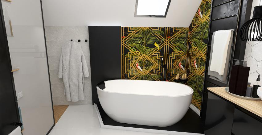 Duża łazienka Interior Design Render
