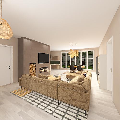 Bosque versión 2 completa patio sin techo Interior Design Render
