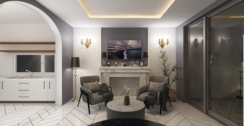 Simple house Interior Design Render