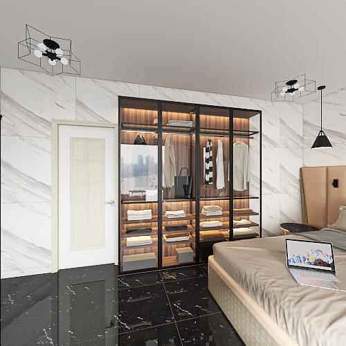 3 BHK house Interior Design Render