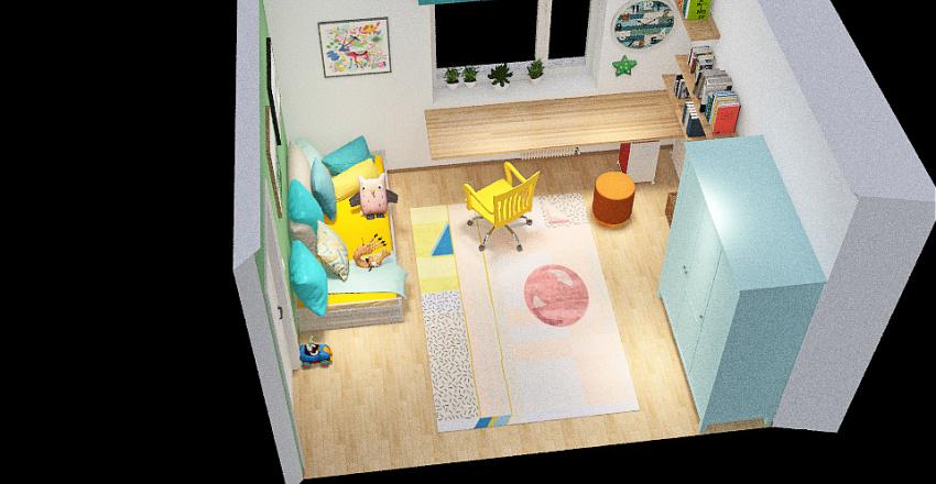 S room_зеленый/бежевый_v.1 Interior Design Render