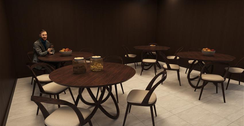 Trabalho Planta de Rede Interior Design Render