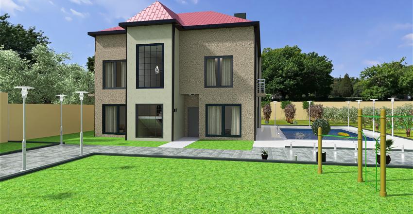 House in Suburb Kutaisi Interior Design Render