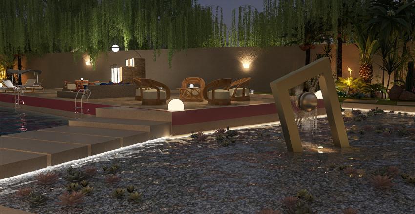 Island Compound Interior Design Render