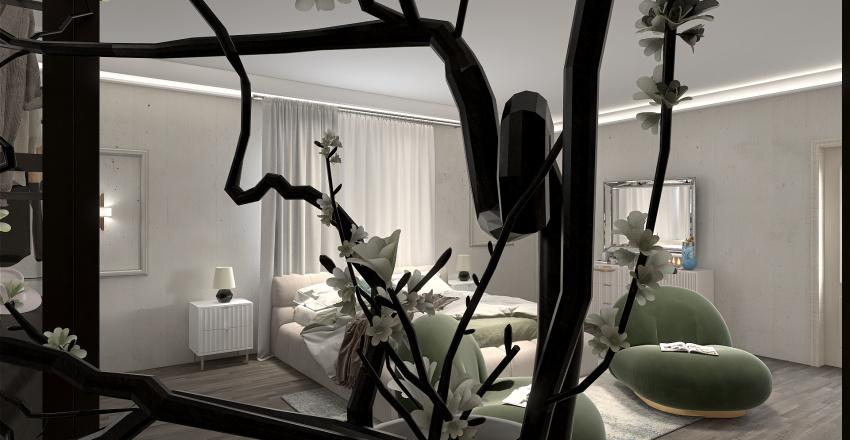 White Room Interior Design Render