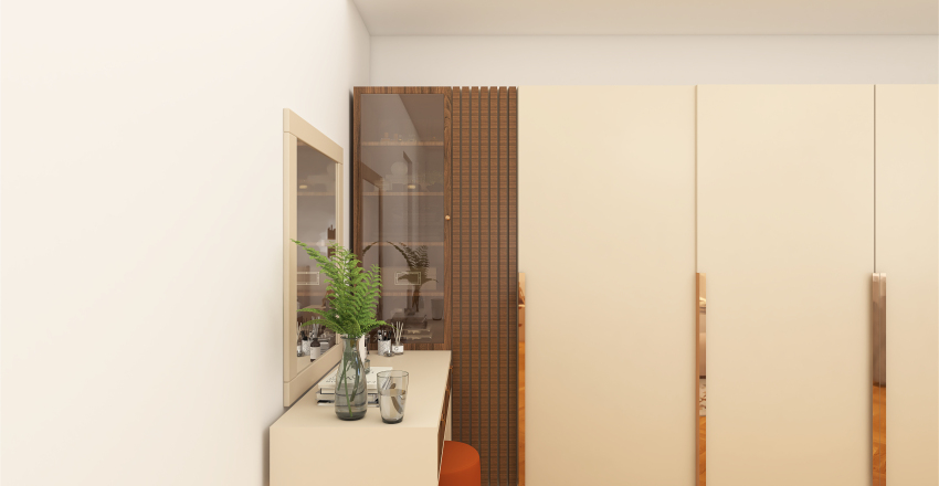 The master bedroom Interior Design Render