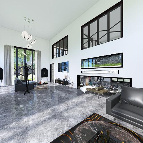 Black Rose Interior Design Render