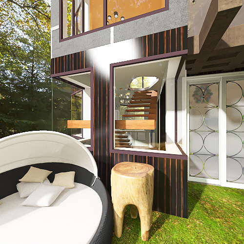 Futuristic House Interior Design Render