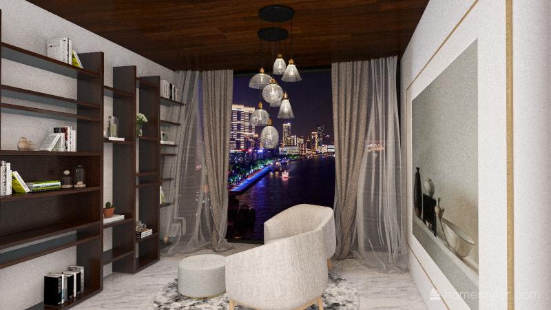 The modern House Interior Design Render
