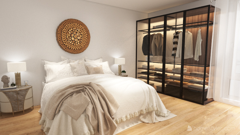 Apartamento de un dormitorio en torre exclusiva Interior Design Render