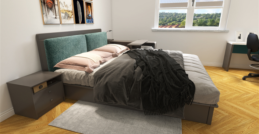 The boy's bedroom Interior Design Render