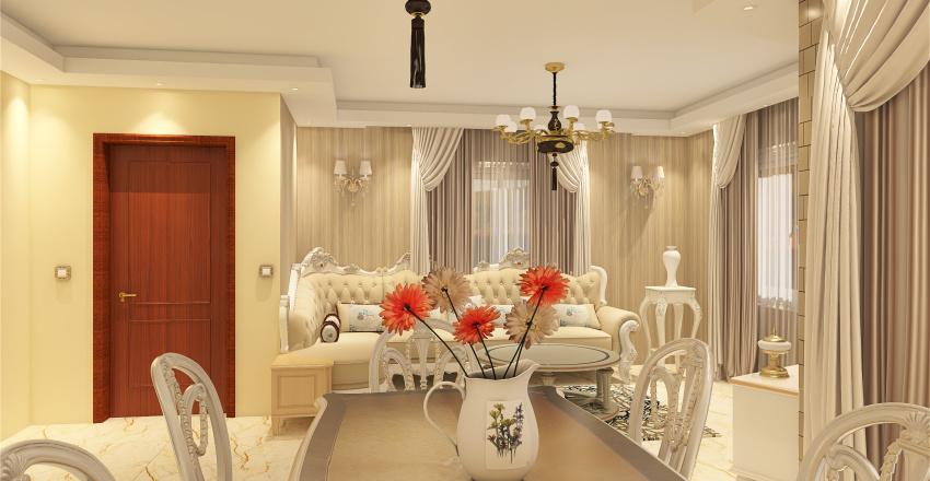 Reception+Living Interior Design Render
