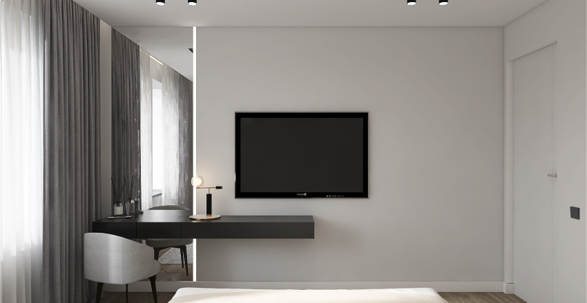 Two-room flat for a young family Interior Design Render