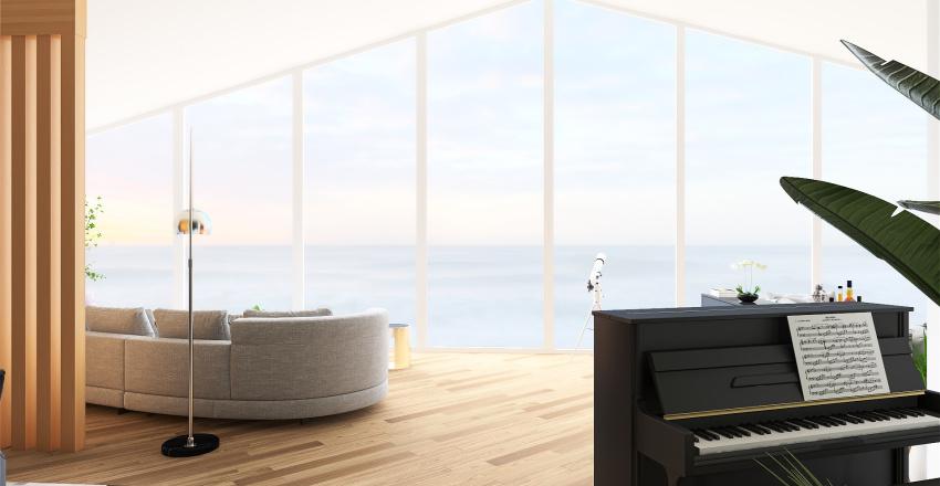 House at Seaside Interior Design Render