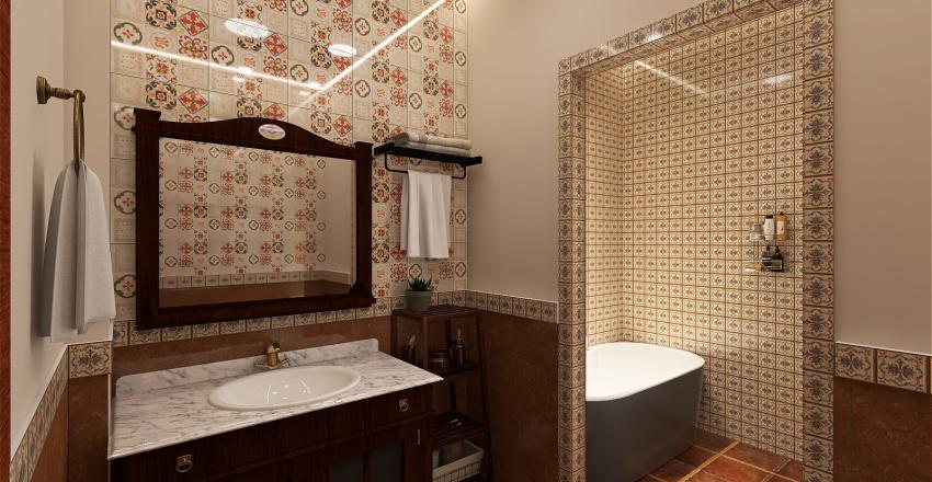 bohemian style residential villa Interior Design Render