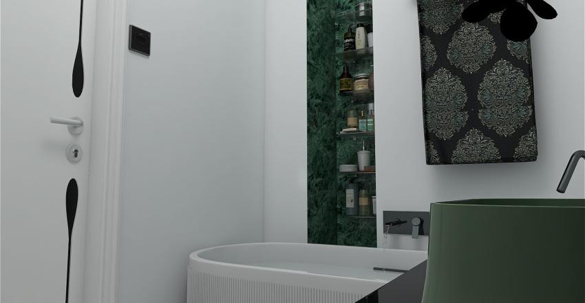 Modern Flat  in Sky Hotel Interior Design Render