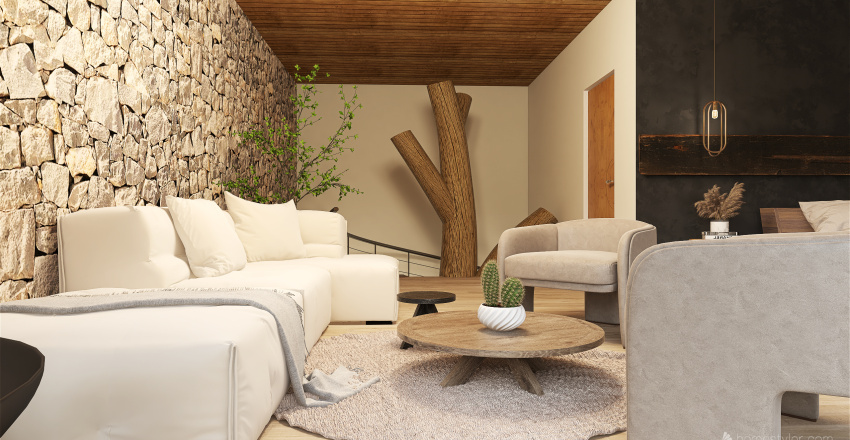 manssão na montanha Interior Design Render