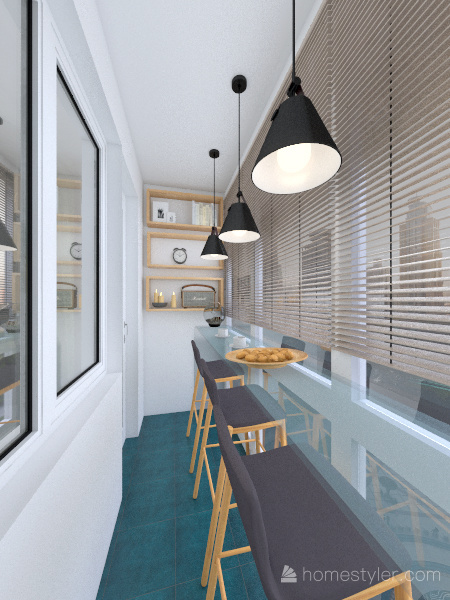 studio apartment for two sisters_1 Interior Design Render