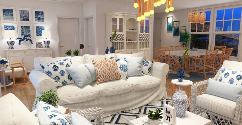 Holiday House Interior Design Render