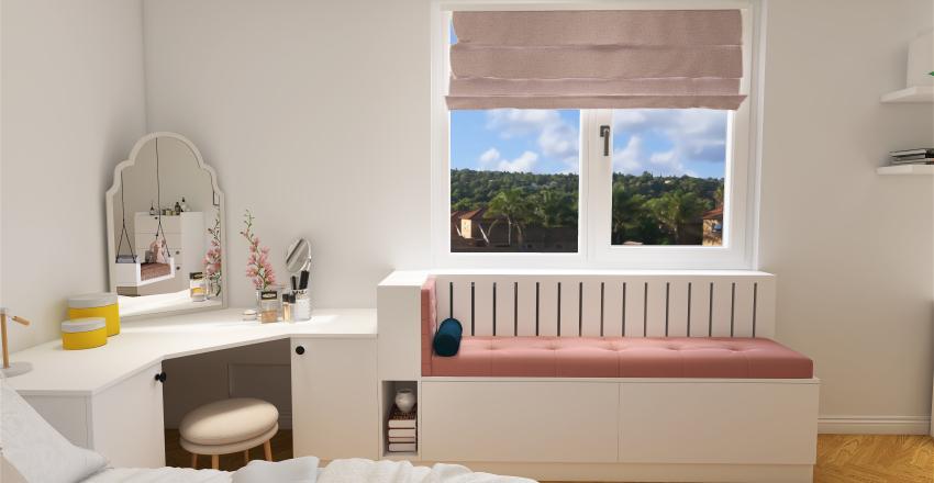 The girl's bedroom Interior Design Render