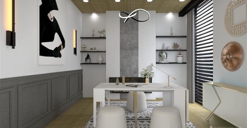 -The Modern Cottage- Interior Design Render