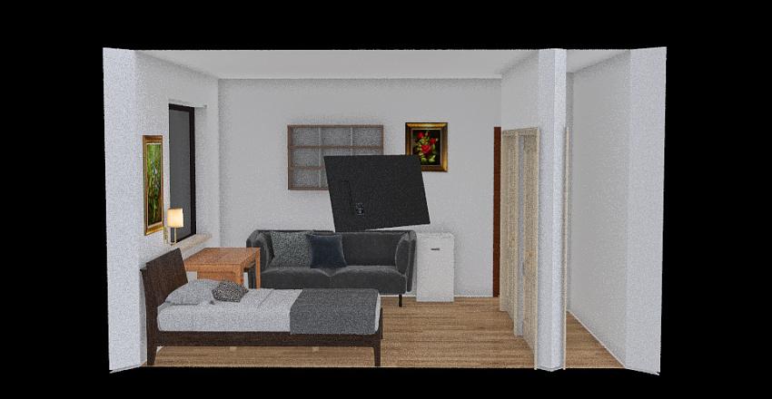 Quarto Deco Interior Design Render