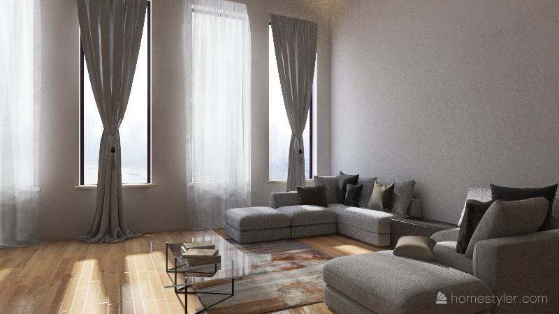 casa loft Interior Design Render