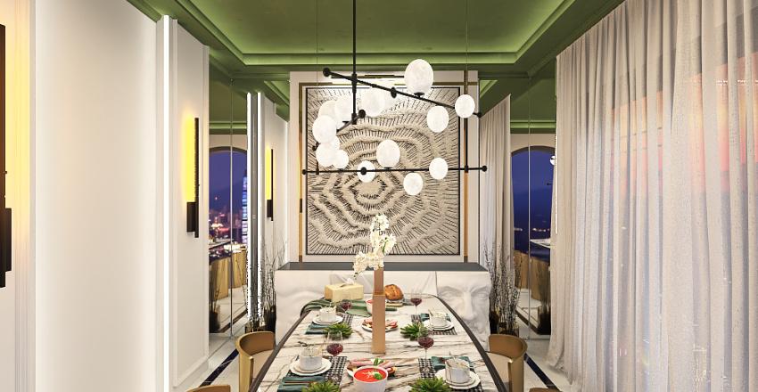 صالة طعام Interior Design Render